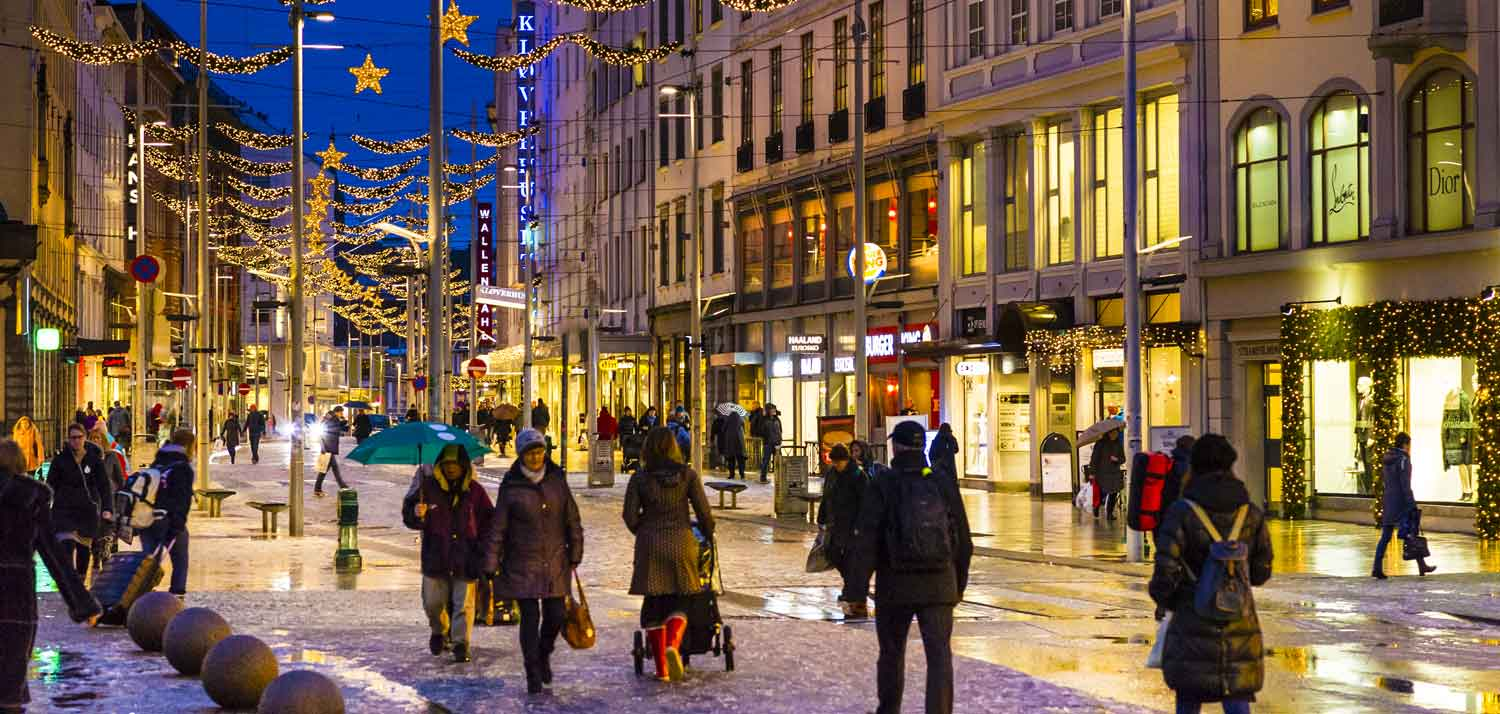 Christmas shopping in Bergen