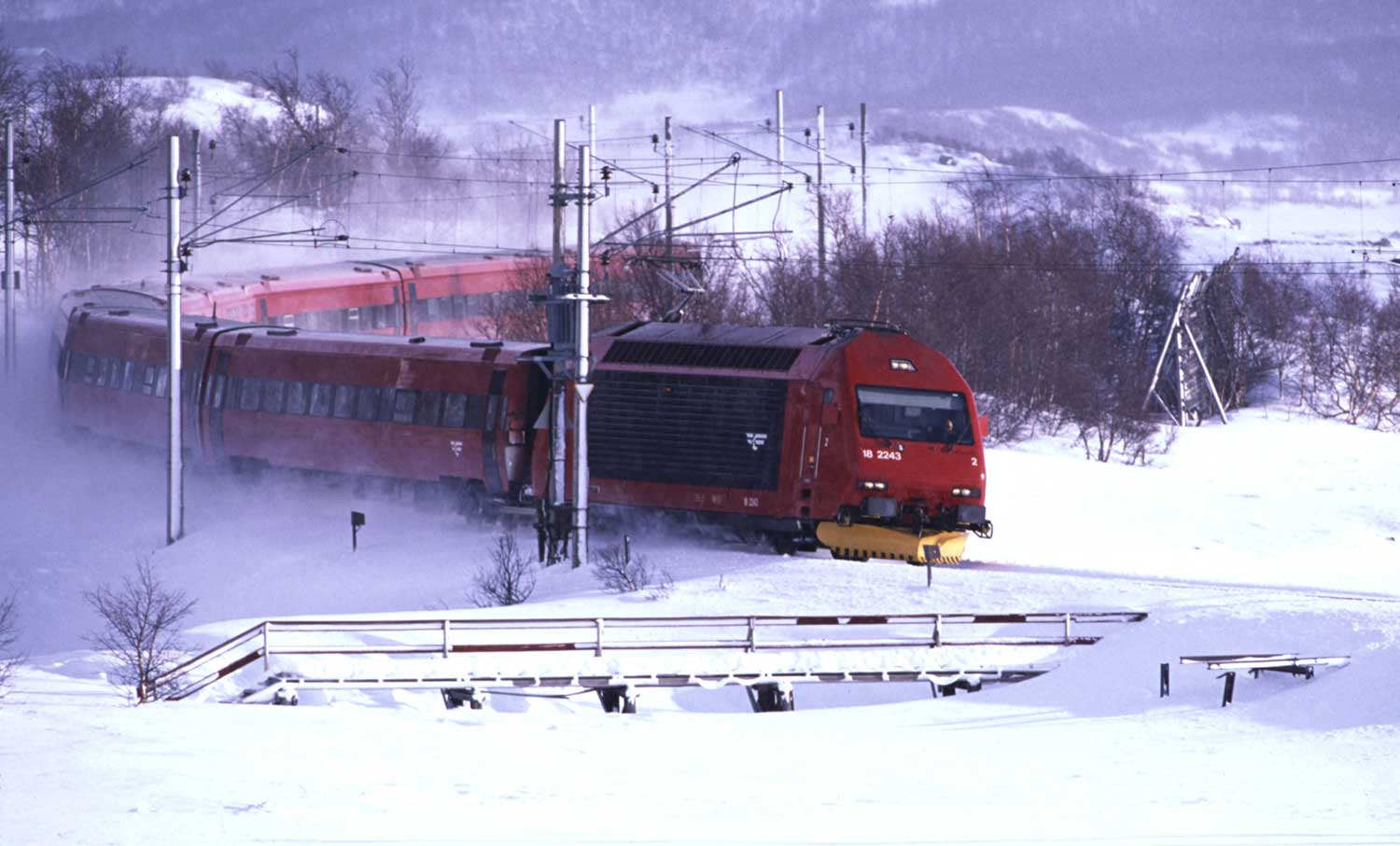 Oslo to Bergen train winter - Bergen Railway