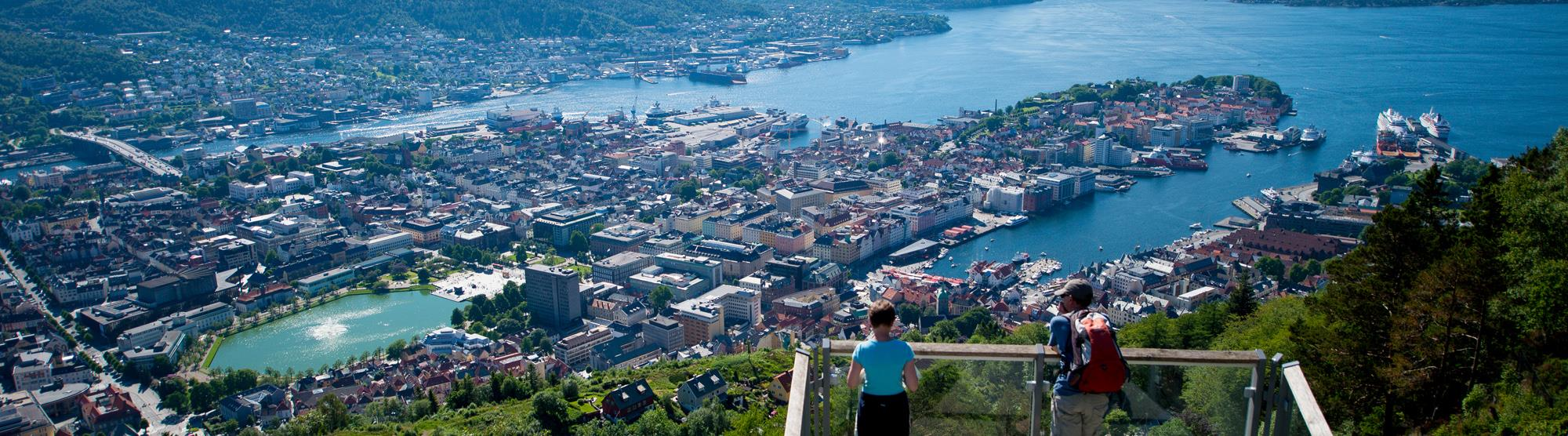 Bergen is easy to get to