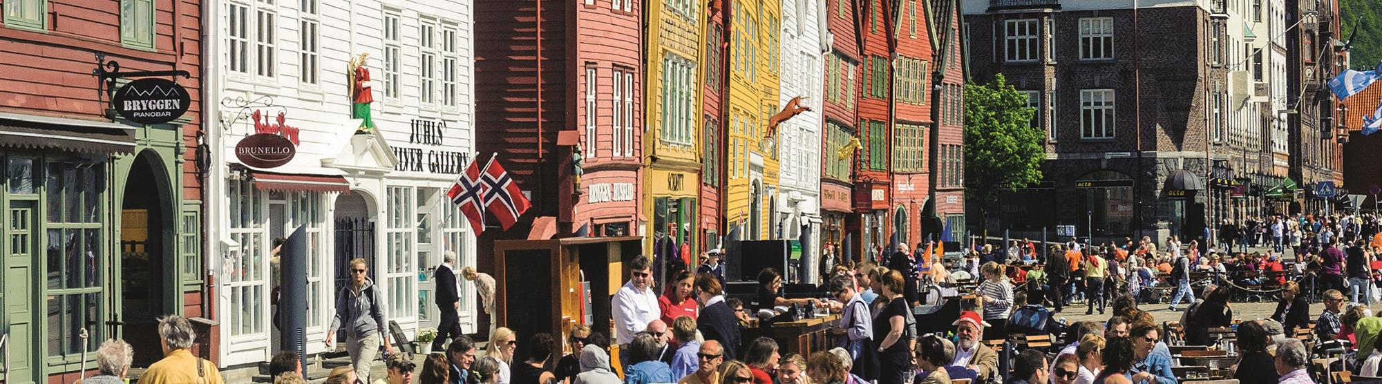 At Bryggen you will find several restaurants offering local and internationsl cuisine